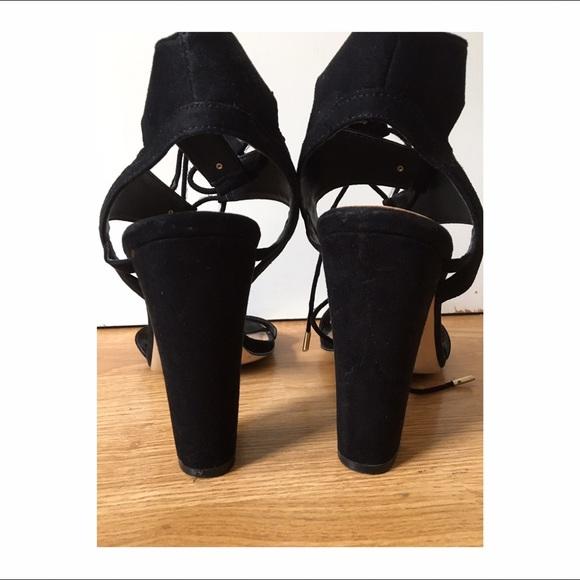 83 Off Mix No 6 Shoes Mix No 6 Black Ankle Tie Heels