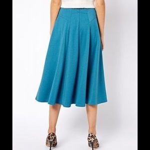 ASOS Aline Midi Skirt with Zip
