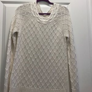 Tunic sweater with gold detail