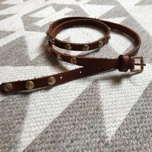 J. Crew skinny belt w/ gold studs