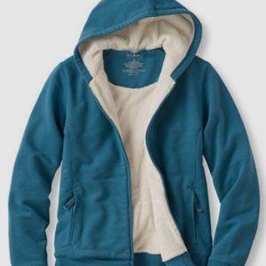 L.L. Bean fleece lined zip-up hoodie