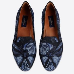 Valentino Shoes - BNIB Valentino Camu Blue Butterfly 🦋 Flats