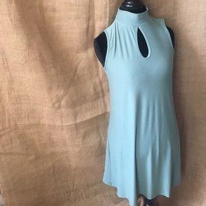 BeBop Dresses & Skirts - 🆕BeBop Sage Sleeveless Keyhole Mock Neck Dress