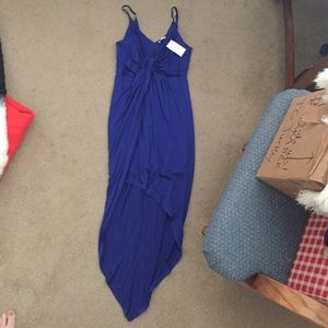 Necessary Clothing Dresses & Skirts - Blue High-Low Knot Dress