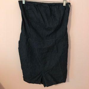 B-Sharp Pants - NWT denim strapless romper with open back!