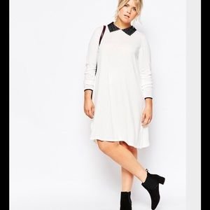 ASOS Curve Dresses & Skirts - Sweater dress with lace collar from Asos