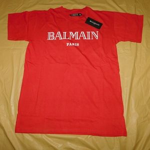 Balmain  Other - Balmain Red & White Signature Logo T-Shirt