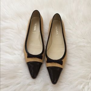 Shoes - Prada two toned flat