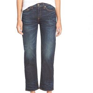rag & bone/JEAN Crop Straight Leg Jeans