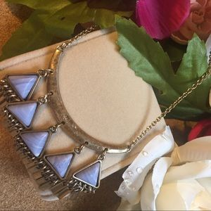 Jewelry - Blue Necklace boho triangle