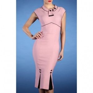 Stop Staring Dresses & Skirts - Stop Staring! Bombshell Dress Pink / Black  small