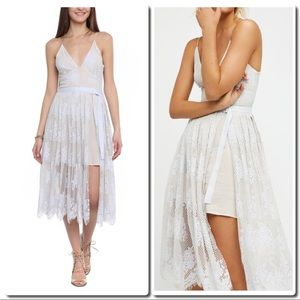 Just In Free People Midi Lace Dress