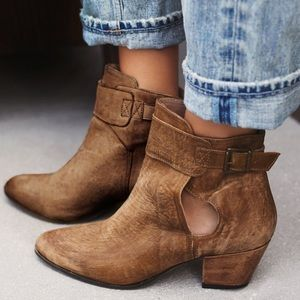 Free People Shoes - Free People Belleville Brown Leather Ankle Boot