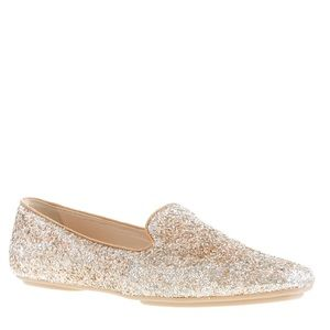 J. Crew Shoes - J. Crew Gold Darby Glitter Loafer