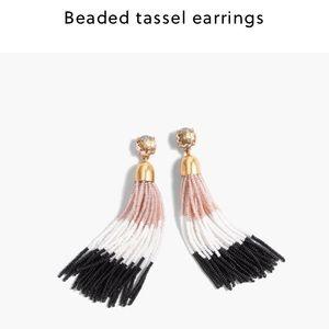 J. Crew Jewelry - J crew. Beaded tassel earrings