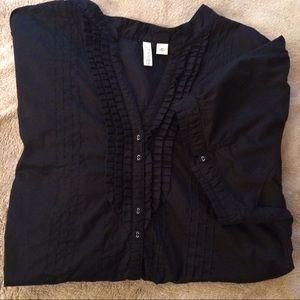 St John's Bay Short Sleeve Buttoned Blouse, 2X