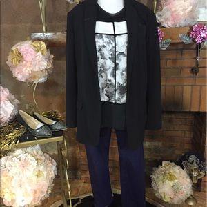 Norma Kamali Jackets & Blazers - Norma Kamali black boyfriend jacket outfit
