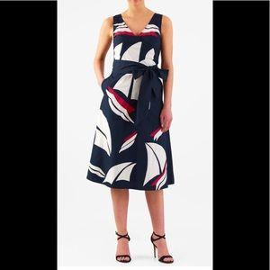 eshakti Dresses & Skirts - New Eshakti Navy Nautical Fit & Flare Dress 24W