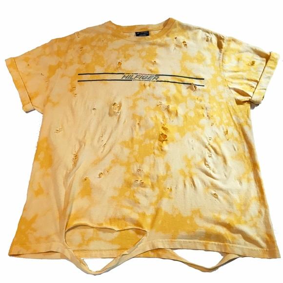 59 off tommy hilfiger other custom acidwash distressed for Custom acid wash t shirts
