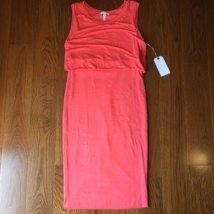 leith Dresses & Skirts - NWT Leith fitted sleeveless dress in coral