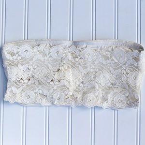 Other - Ivory - Lace Back Bandeau