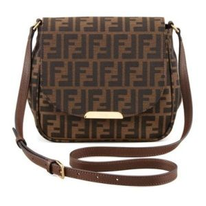 Fendi Handbags - Fendi Zucca Tobacco Small Crossbody Bag