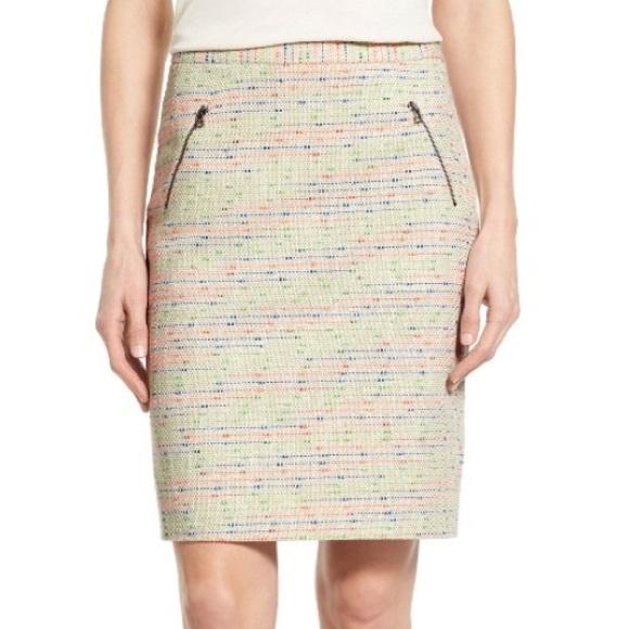 d92796dda36 Halogen Dresses   Skirts - NWOT Halogen Zip Pocket Tweed Pencil Skirt