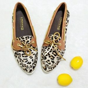 Sperry Top-Sider Shoes - RARE Sperry Leopard Calfhair Pointy Toe Shoes S17