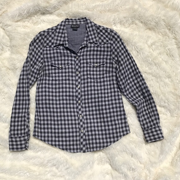 Lucky brand lucky brand long sleeve plaid flannel button for Lucky brand button down shirts