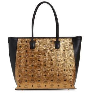 MCM Handbags - AUTHENTIC MCM 2 TONE METALLIC TOTE (large)