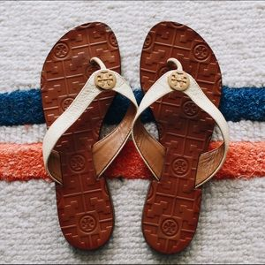 Tory Burch Leather Slippers