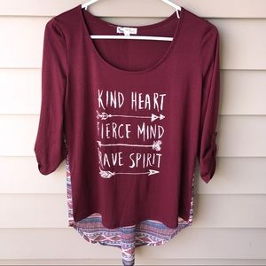 About A Girl Tops - About a girl Maroon Graphic Tee