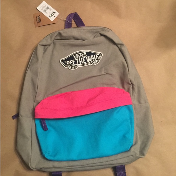 f9f97cfa4ada0f NEW Vans Backpack off the wall skateboard logo bag