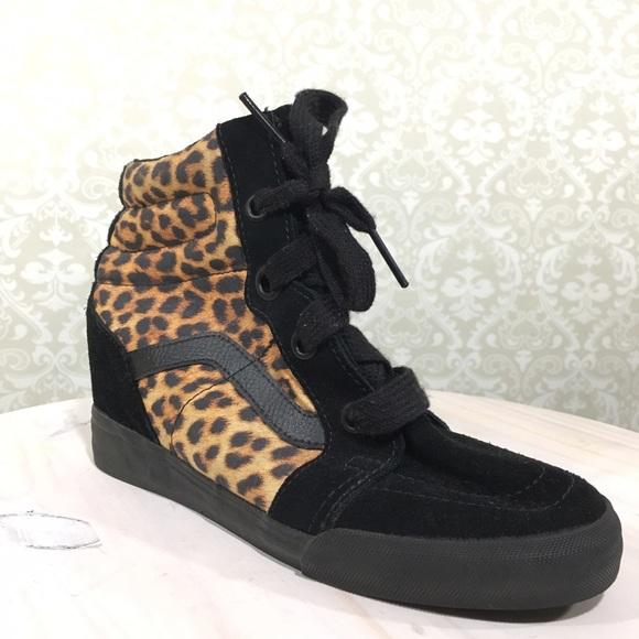 cf812af914cb VANS 9 Leopard Black Hi-Top Animal Print Sneakers.  M_5928d6e741b4e0fc140135a0