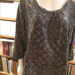 Cute Croft & Barrow Womens Stretch cotton blouse