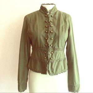Picasso Babe Jackets & Blazers - Cute military Victorian style jacket olive green