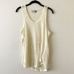 Anine Bing Tops - Anine Bing Yellow Loose Fit Tank Top