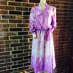 Vintage 70|80s Lilac Secretary Dress