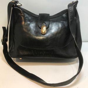 Valentina Handbags - Vintage Valentina In Pell Black Leather Crossbody