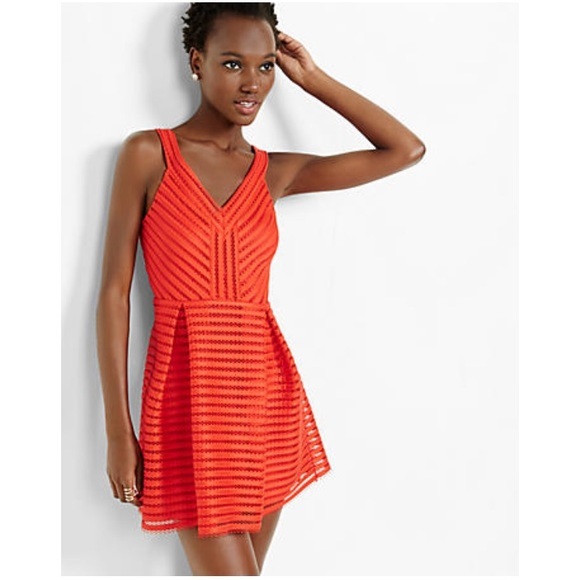 Express Dresses & Skirts - Express red fit and flare dress