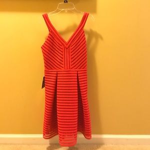 Express Dresses - Express red fit and flare dress
