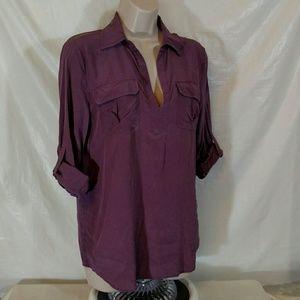 Acrobat Tops - Acrobat tunic shirt 100% silk size S purple