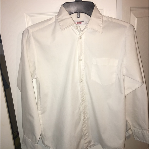 67 Off Izod Other Just In Boys White Dress Shirt Size