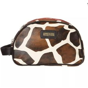 Kenneth Cole Giraffe Print Cosmetic Bag