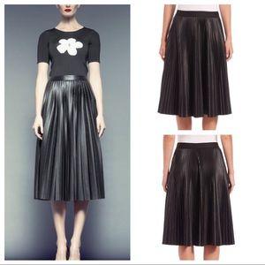 Anthropologie Bailey44 faux leather midi skirt