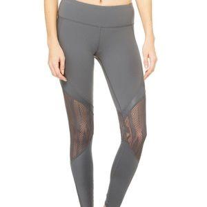 ALO Yoga Pants - NWOT Ali Yoga Gray Leggings with Mesh Cutout!
