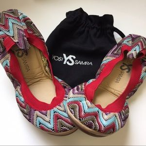 Yosi Samra Shoes - NEW IN POUCH YOSI SAMRA COLORFUL PATTERNED FLATS