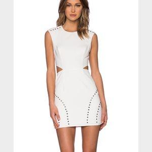 Naven Dresses & Skirts - NEW NBD x Revolve white cut out studded dress