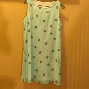 Dresses & Skirts - Mint green dress with sequence