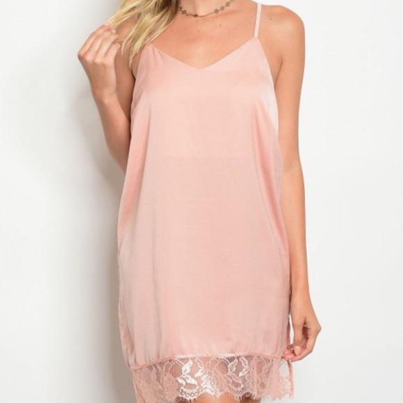 Galerry slip dress blush